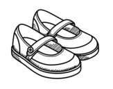 Disegno di Scarpe da ragazza da colorare