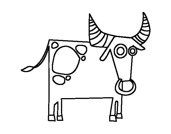 Disegno di segno di toro da colorare - Toro scorpione a letto ...