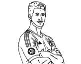 Disegno di Sergio Ramos da colorare