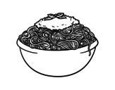Disegno di Spaghetti da colorare