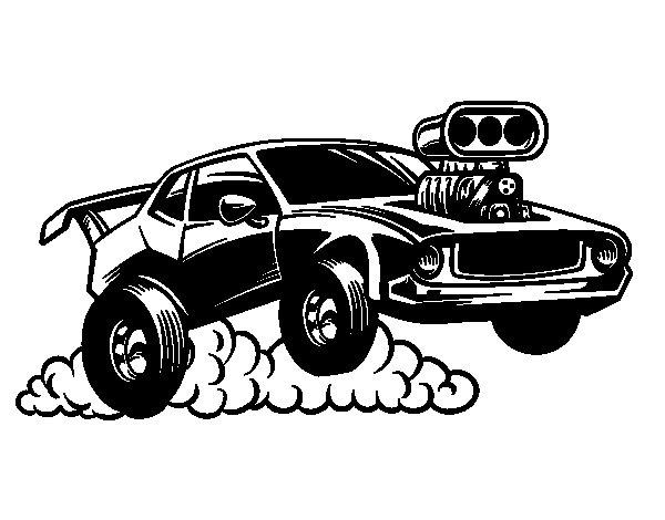 Disegno di Sportivo muscle car da Colorare