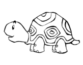 Disegno di Tartaruga felice da colorare