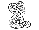 Disegno di Tatuaggio di cobra da colorare