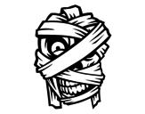 Disegno di Testa della mummia da colorare