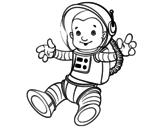 Dibujo de Un astronauta nello spazio