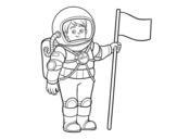 Disegno di Un astronauta da colorare