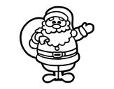 Disegno di Un Babbo Natale da colorare