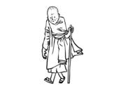Disegno di Un monaco buddista da colorare