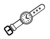 Disegno di Un orologio da polso da colorare
