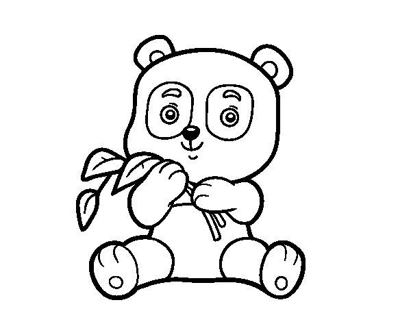 Disegno di Un orso panda da Colorare