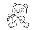Dibujo de Un orso panda