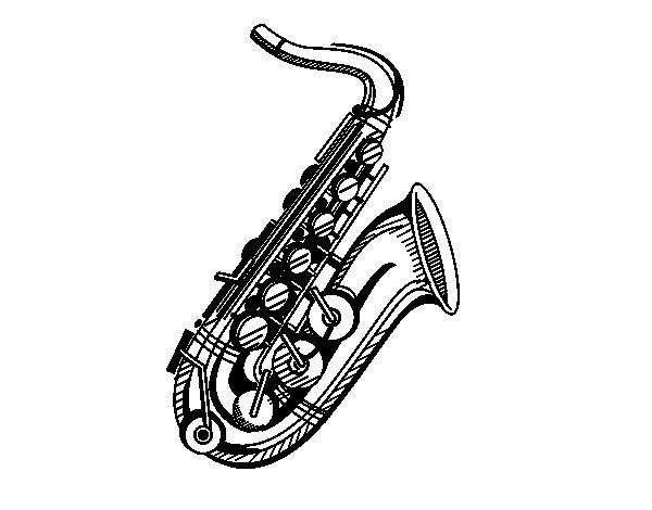 Disegno di Un sassofono da Colorare