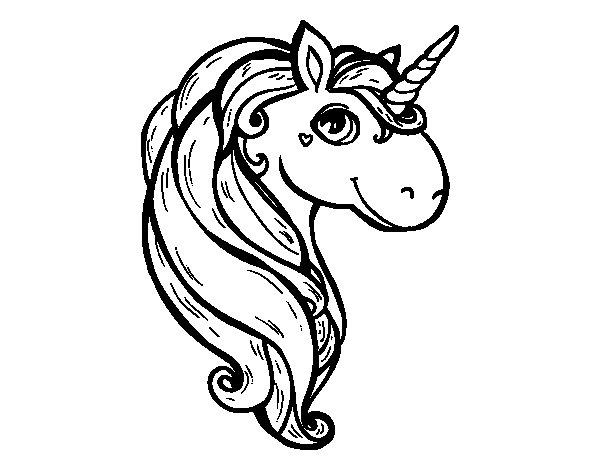 Disegno di un unicorno da colorare - Libero unicorno pagine da colorare ...