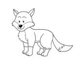 Disegno di Una volpe da colorare