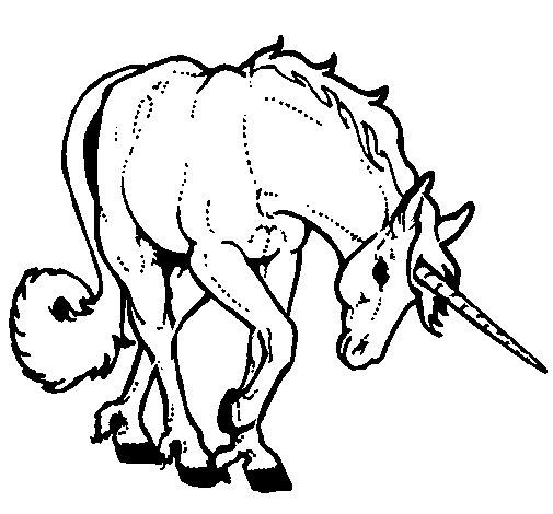 Disegno di unicorno brado da colorare - Libero unicorno pagine da colorare ...