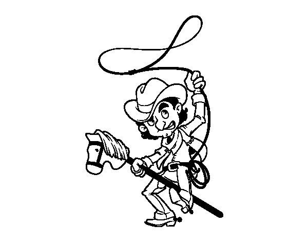 Disegno di vestito de cowboy da colorare - Cowboy foglio da colorare ...