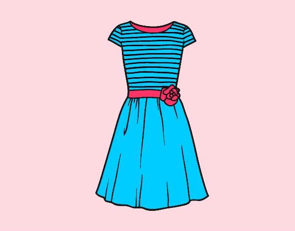 Disegni di vestiti da colorare for Disegni di casa alla moda