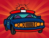 Disegno Auto della polizia pitturato su STAN