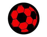 Disegno Pallone da calcio III pitturato su STAN