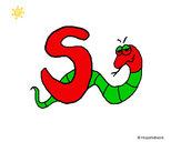 Disegno Serpente pitturato su Francesc09