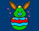 Disegno Coniglio in un guscio pitturato su GABRIEL17