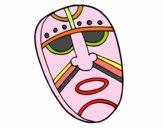 Disegno Maschera incantata pitturato su mamma73