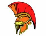 Disegno Casco romano di guerriero pitturato su Achille