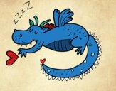 Drago infantile dormendo
