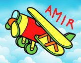 Disegno Aeroplano acrobatico pitturato su amirotto