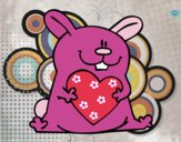 Coniglio con cuore