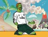 Sergio Ramos festeggiare un gol
