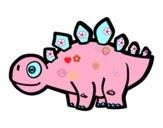 Giovane stegosauro