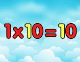 1 x 10