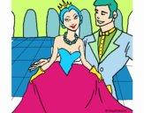 Principessa e principe al ballo