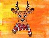 Cervo con sciarpa