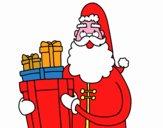 Santa Claus con i regali