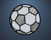 Disegno pallone da calcio ii colorato da utente non - Pagina da colorare di un pallone da calcio ...