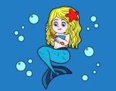 Mermaid a pettinarsi i capelli