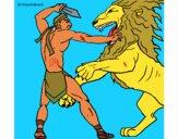 Gladiatore contro un leone