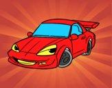 Auto sportiva con alettone