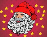 Faccia di Babbo Natale per Natale