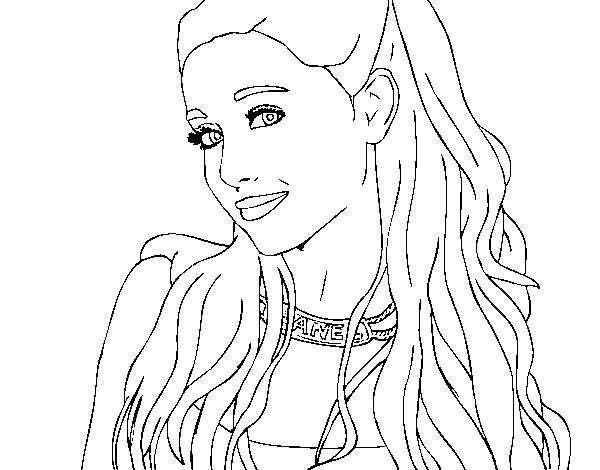 Disegno Di Ariana Grande Con Il Collare Da Colorare Acolore Com