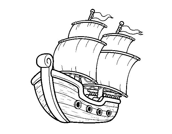 Disegno Di Barca A Vela Da Colorare Acolorecom