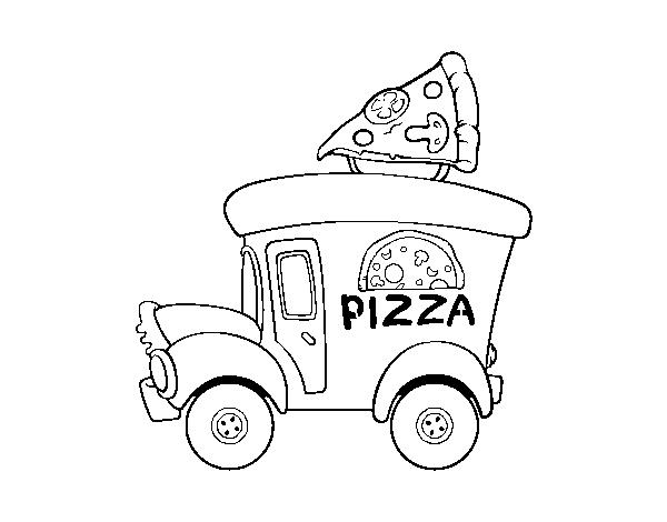 Disegno Di Food Truck Di Pizza Da Colorare Acolore Com