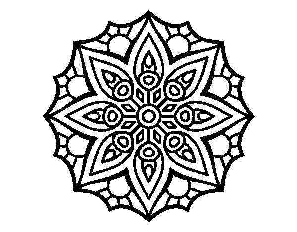 Disegno Di Mandala Semplice Simmetria Da Colorare Acolore Com