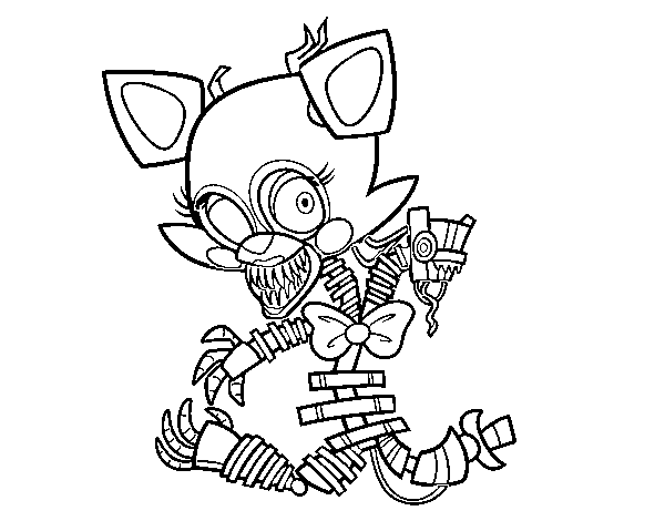 Disegno di Mangle di Five Nights at Freddy's da Colorare