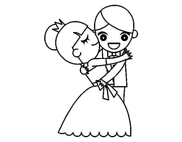 Disegno Di Marito E Moglie Danza Da Colorare Acolorecom
