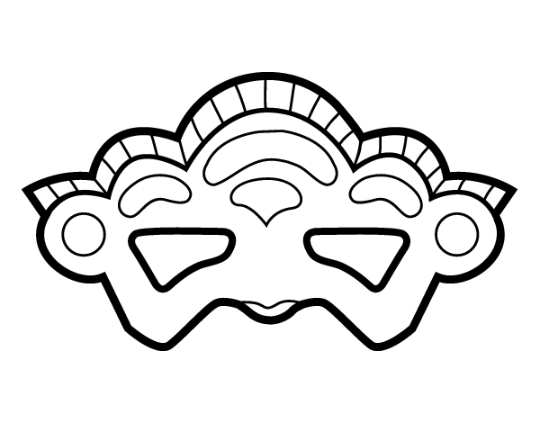 Disegno Di Maschera Di Venezia Da Colorare Acolorecom