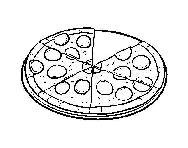 Disegno Di Pizza Italiana Da Colorare Acolorecom