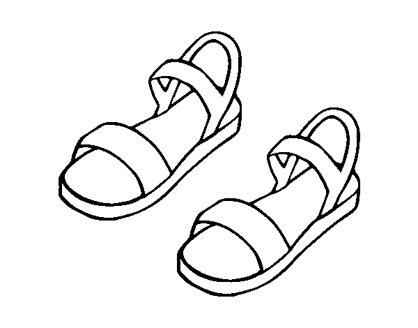 Sandali Disegno Di Da Colorare Di Di Disegno Da Sandali Colorare Sandali Disegno PkwX08ONnZ